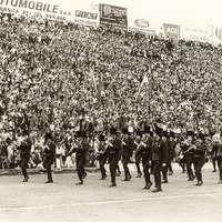 1976 Sfilata allo stadio Marassi di Genova