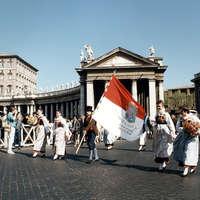 1987 La banda in piazza San Pietro a Roma